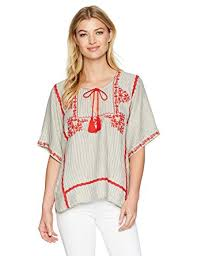 ella moss ella moss women s marini embroidered top clothing