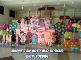 disney princess theme styro backdrop for rent and balloon decor