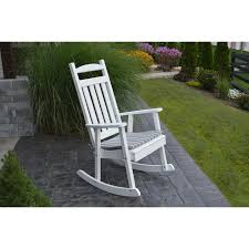 Recycled Plastic Patio Furniture A U0026l Furniture Co Classic Recycled Plastic Rocking Chair Rocking