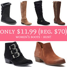 womens boots kohls run only 11 99 regular 70 s boots free shipping