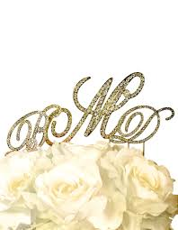 gold monogram cake topper collection rhinestone monogram cake topper in gold