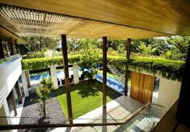 courtyard home modern singapore house design modern house design with green