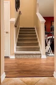 Laminate Flooring Around Stairs Wood Look Pvc Vinyl U0026 Grey Carpet Ability Wood Flooring
