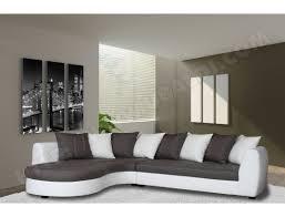 canapé d angle bi matière canapé bi matière ub design marina angle gauche pu blanc et tissu