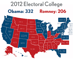 1996 Presidential Election Map by Electoral College