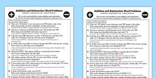 addition and subtraction word problems worksheet year 3 romanian