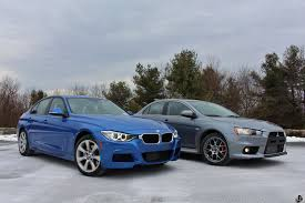 mitsubishi street racing cars bmw 335i xdrive vs mitsubishi evo mr review by limitedslipblog