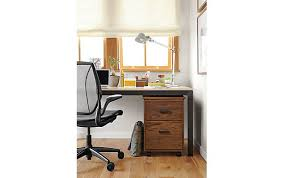 parsons desk with linear rolling file cabinet modern office