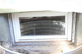 my basement window with wood frame is leaking photo attached
