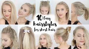 popular hair cuts for tall head 10 easy hairstyles for short hair youtube