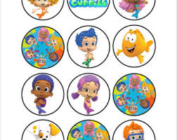 guppies cake toppers guppies cake pop etsy