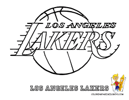 basketball logo coloring pages lakers coloring pages for kids and for adults coloring home