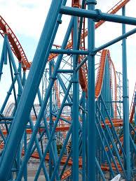 Goliath Six Flags Goliath Roller Coaster At Six Flags Magic Mountain The Coaster Guy