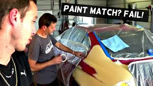 how to blend car paint clear coat and bad paint match youtube