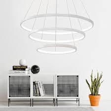 hghomeart led ring kronleuchter glanz im wohnzimmer lampe moderne