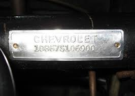 1969 corvette vin decoder 1961 vin tag when placed on column during assembly