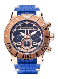 rose gold hummer hummer gt chronograph watch hu1101 104 rose gold case blue