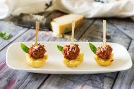 appetizer canape mini spaghetti and meatball appetizer recipe on food52