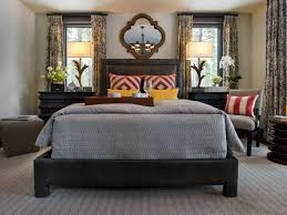 Master Bedroom Wall Finishes Great Blue White Wall Room Combined With Dark Brown Wooden Bed