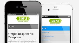 responsive design template simple responsive template