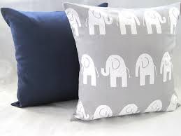 Navy Nursery Decor Baby Bedding Pillows Gray Elephants Nursery Decor Baby Baby