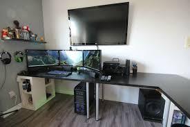 l shaped desk gaming setup cool computer setup gaming setup l shaped computer desks are best l