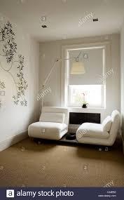 white futura sofa beds by luigi recalcati in modern bedroom with