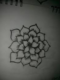 cute but simple flower drawing just 3 4 drawn on canvas up close