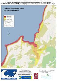 Map Of Long Beach Wremo U2014 Tsunami Evacuation Zones Wellington City
