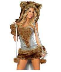 amazon com hply womens halloween cosplay hairy timber wolf
