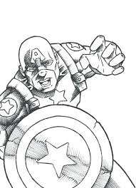 Captain America Printable Coloring Pages Captain Coloring Page Captain America Coloring Page