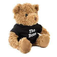 new the boss teddy bear cute and cuddly gift present