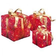 pre lit christmas gift boxes lighted christmas presents set gold pre lit 3 pc indoor outdoor