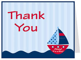 baby shower notes nautical baby shower thank you notes crab 50 printed cards