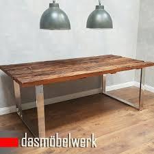 Esszimmer Antik Kaufen Dasmöbelwerk Tisch Massiv Recycling Holz Antik Look Esstisch