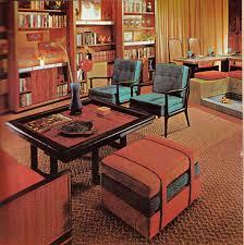 vintage retro decor living room conservation pit room idea 70s