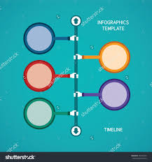 abstract vector timeline infographic template flat stock vector abstract vector timeline infographic template in flat style for layout workflow scheme numbered options