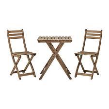 sedia da giardino ikea askholmen tavolo 2 sedie da giardino askholmen mordente grigio