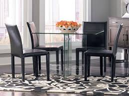 Square Dining Room Table Glass On Glass Square Dining Table Cort Com