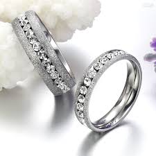 jewelry rings online images 2018 dull polish diamon couple rings wedding jewellery stainess jpg