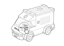 free cars coloring pages lego ambulance car coloring page for kids printable free lego
