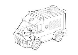 lego ambulance car coloring kids printable free lego