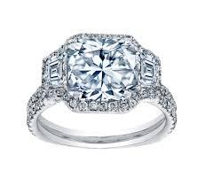 radiant cut engagement rings 4 00 carat radiant cut halo engagement ring