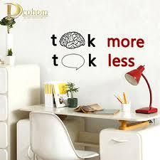 aliexpress com buy talk less work more home decor wall sticker