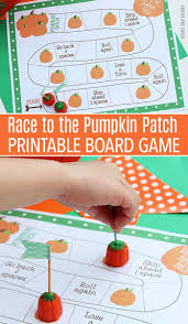 race to the pumpkin patch free printable board game preschool