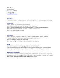Resume For Self Employed Sample by Printable Cosmetology And Hair Stylist Resume Sample With List Of