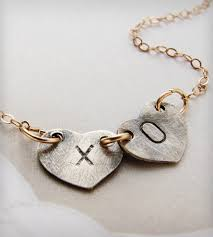 Initials Necklace Xo Kiss Hugs Initials Necklace Jewelry Necklaces Sora Designs