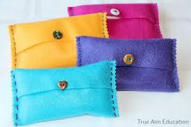 Tissue Holder Diy Felt Pocket Kleenex Tissue Holders True Aim