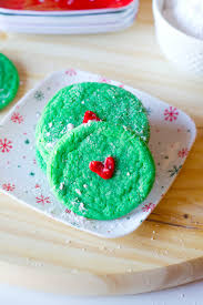 grinch cookies a simple christmas cookie idea our holly days