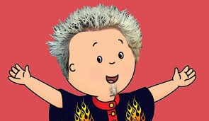 We Re Sorry Meme - the guy fieri caillou memes and meme